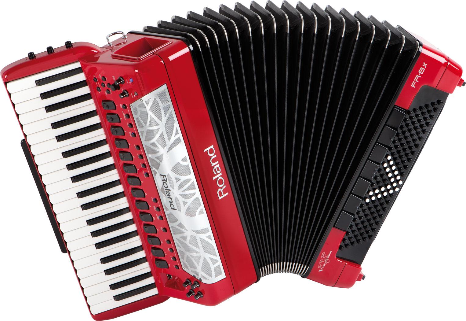 Accordéons - ACCORDEONS - ROLAND - Accordéon FR-8x rouge - Royez Musik