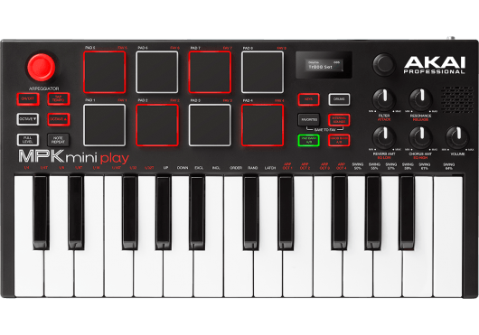 Claviers & Pianos - CLAVIERS - CLAVIERS MAITRES - Akai Pro - MPKMINIPLAY - Royez Musik