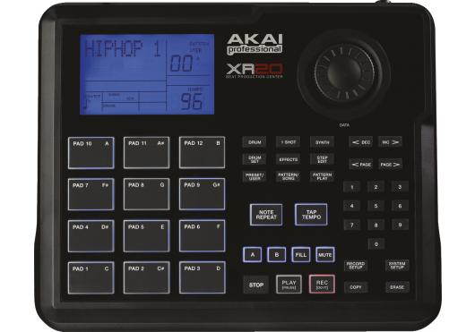 Audio - MACHINES - BOITE A RYTHMES - Akai Pro - RAP XR20 - Royez Musik