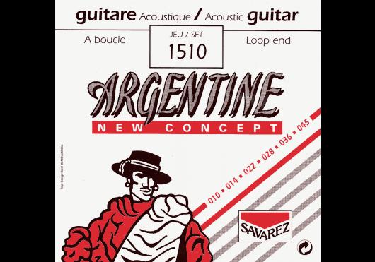 Cordes - CORDES GUITARES ACOUSTIQUES - JEU COMPLET - Argentine - CAR 1510 - Royez Musik