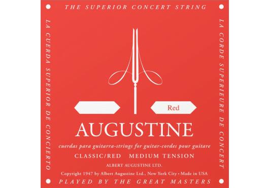 Cordes - CORDES GUITARES CLASSIQUES - A L'UNITE - Augustine - CAU ROUGE4-RE - Royez Musik
