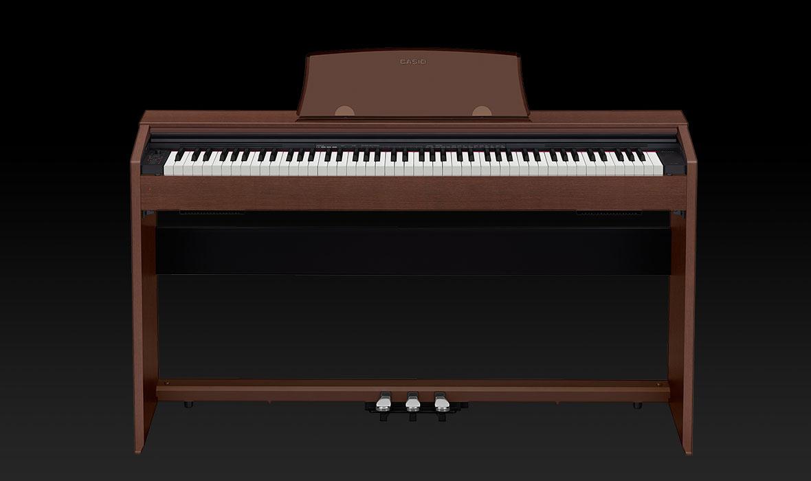 Claviers & Pianos - PIANOS NUMERIQUES - MEUBLE - CASIO - PX-770BN - Royez Musik