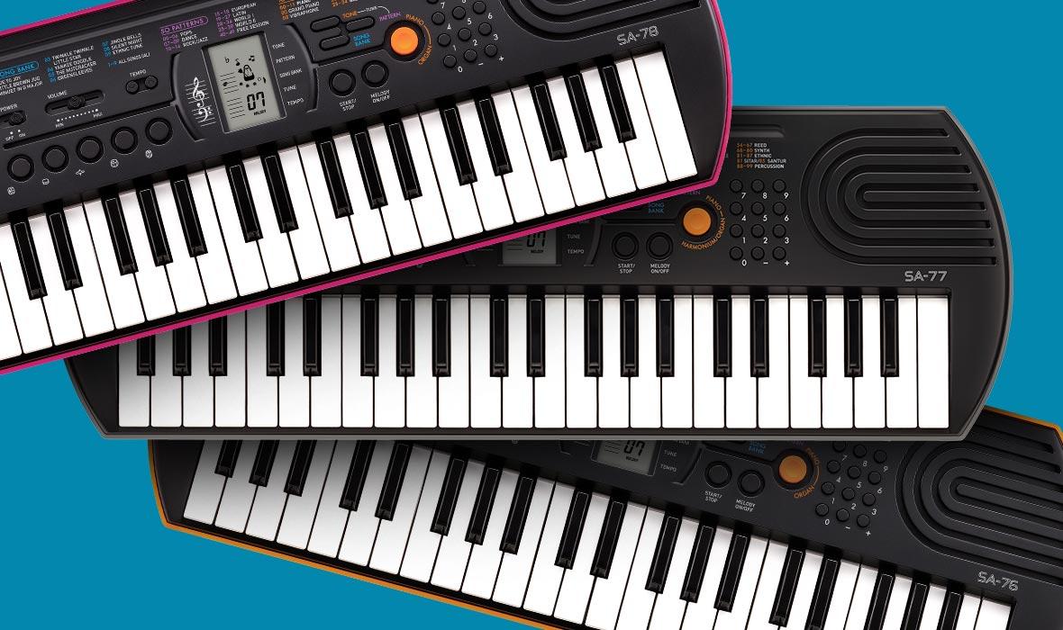 Claviers & Pianos - CLAVIERS - MINI CLAVIERS - CASIO - SA-76 - Royez Musik