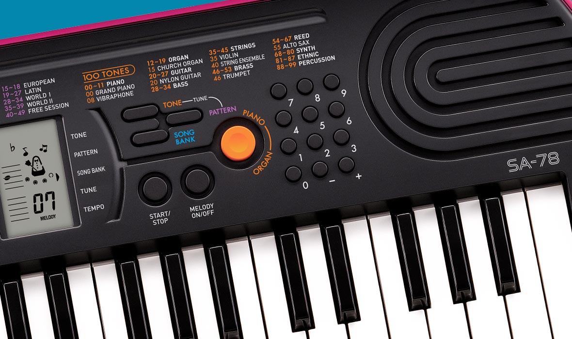 Claviers & Pianos - CLAVIERS - MINI CLAVIERS - CASIO - SA-78 - Royez Musik