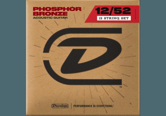 Cordes - CORDES GUITARES ACOUSTIQUES - 12 CORDES - Dunlop - CDU DAP1252J - Royez Musik