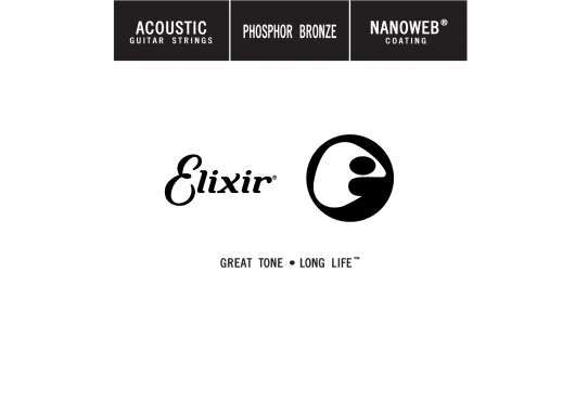 Cordes - CORDES GUITARES ACOUSTIQUES - A L'UNITE - Elixir - CEL 14122 - Royez Musik