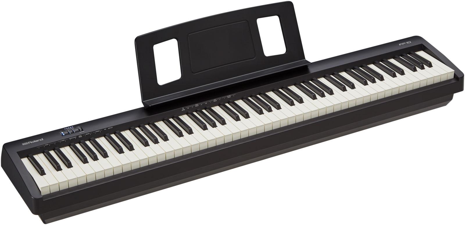 Claviers & Pianos - PIANOS NUMERIQUES - PORTABLE - ROLAND - FP-10-BK - Royez Musik