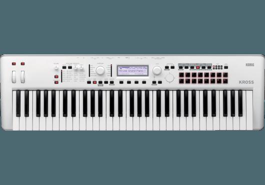 Claviers & Pianos - WORKSTATIONS - Korg - KOH KROSS2-61-WH - Royez Musik