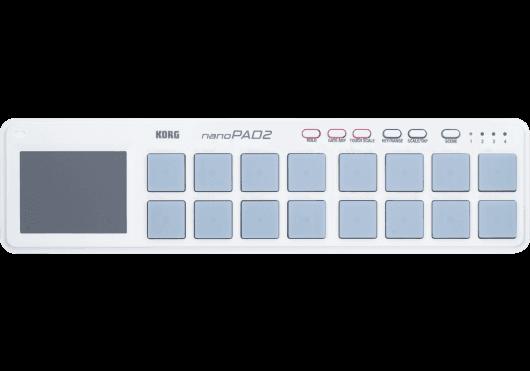 Claviers & Pianos - CONTROLEURS - Korg - KOH NANOPAD2-WH - Royez Musik