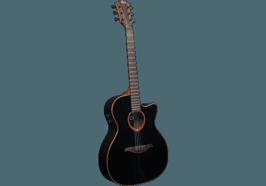 Guitares & Co - GUITARES ACOUSTIQUES - 6 CORDES - Lâg - GLA T100ACE-BLK - Royez Musik