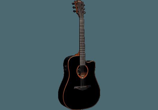 Guitares & Co - GUITARES ACOUSTIQUES - 6 CORDES - Lâg - GLA T100DCE-BLK - Royez Musik
