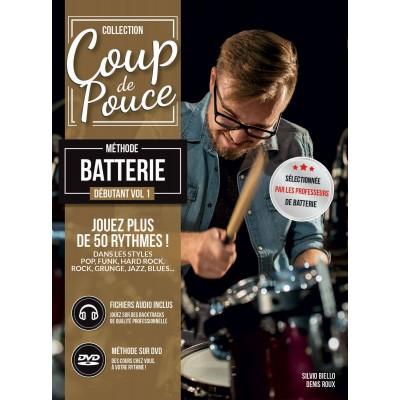 Librairie - METHODES -  - Méthode Coup de pouce batterie - Royez Musik