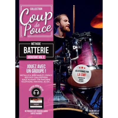 Librairie - METHODES -  - Méthode Coup de pouce Batterie vol. 2 - Royez Musik