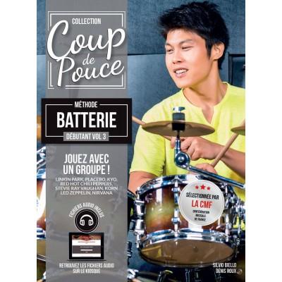 Librairie - METHODES -  - Méthode Coup de pouce Batterie vol. 3 - Royez Musik