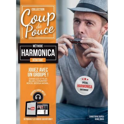 Librairie - METHODES -  - Méthode Coup de Pouce harmonica - Royez Musik
