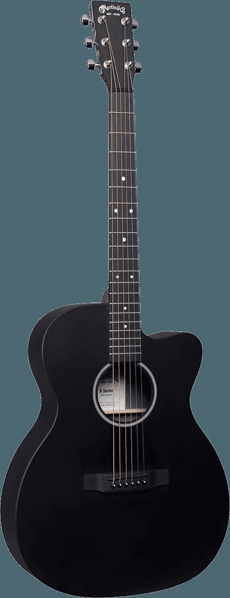 Guitares & co - GUITARES ACOUSTIQUES - 6 CORDES - Martin - OMC-X1E-BLK - Royez Musik