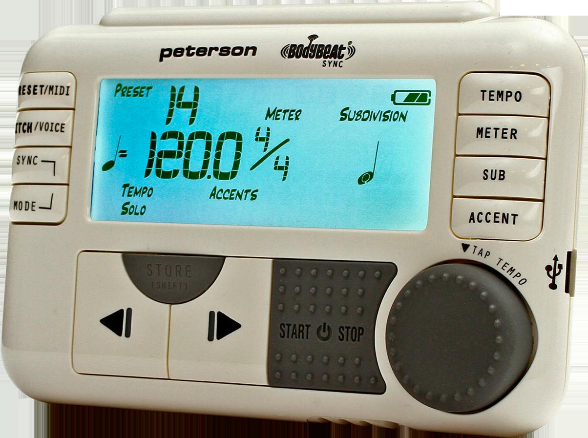 Accessoires - ACCORDEURS & METRONOMES - MÉTRONOME - PETERSON - PT-BODYBEAT - Royez Musik