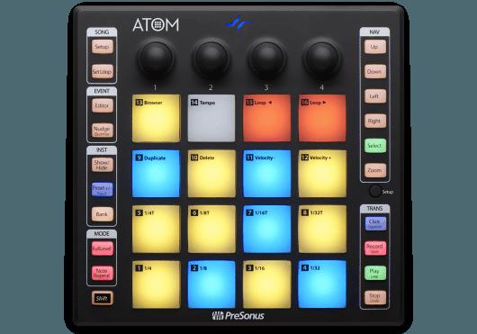 Audio - MACHINES - SURFACES DE CONTROLE - PreSonus - RPR ATOM - Royez Musik