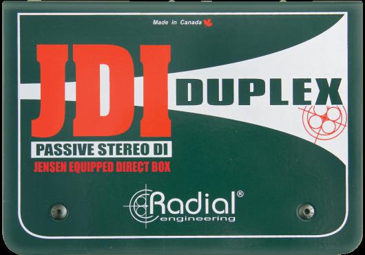 Audio - PÉRIPHÉRIQUES AUDIO - BOITES DE DIRECT - Radial - SRA JDI-DUPLEX - Royez Musik