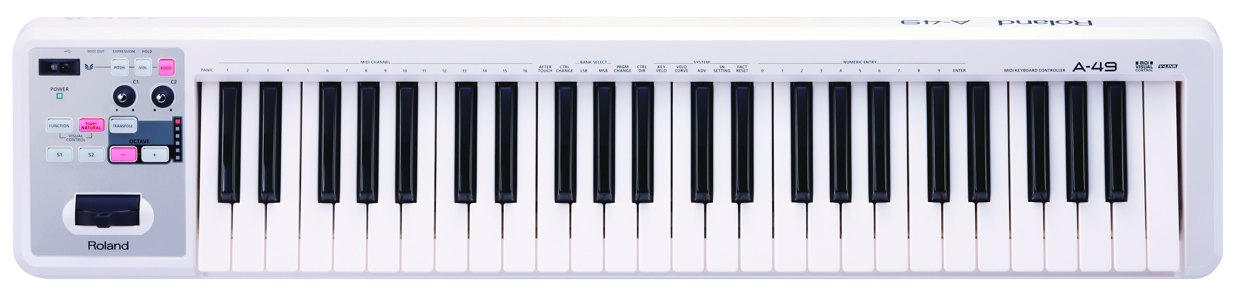Claviers & Pianos - CLAVIERS - CLAVIERS MAITRES - ROLAND - A-49-WH - Royez Musik