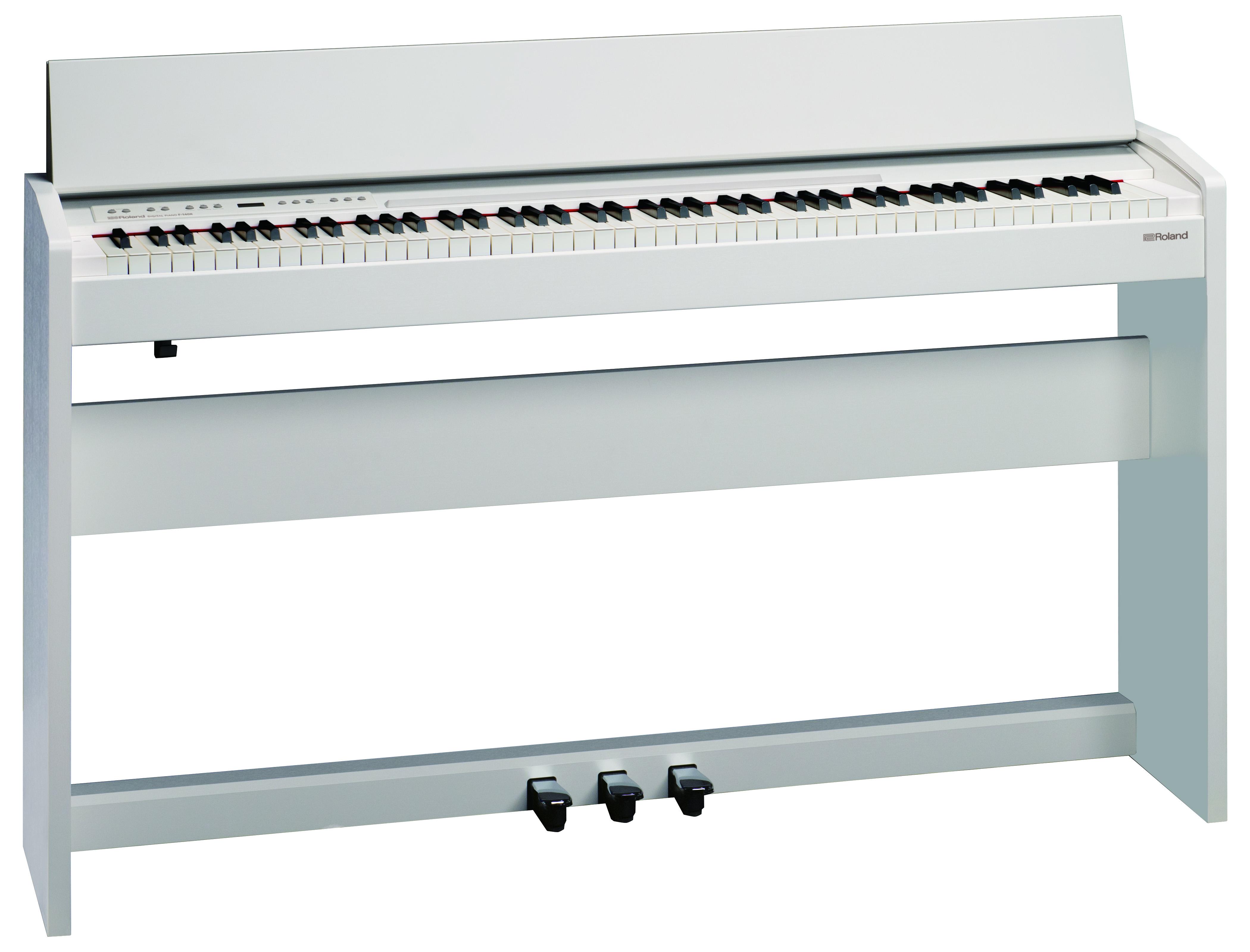 Claviers & Pianos - PIANOS NUMERIQUES - MEUBLE - ROLAND - F-140R-WH - Royez Musik