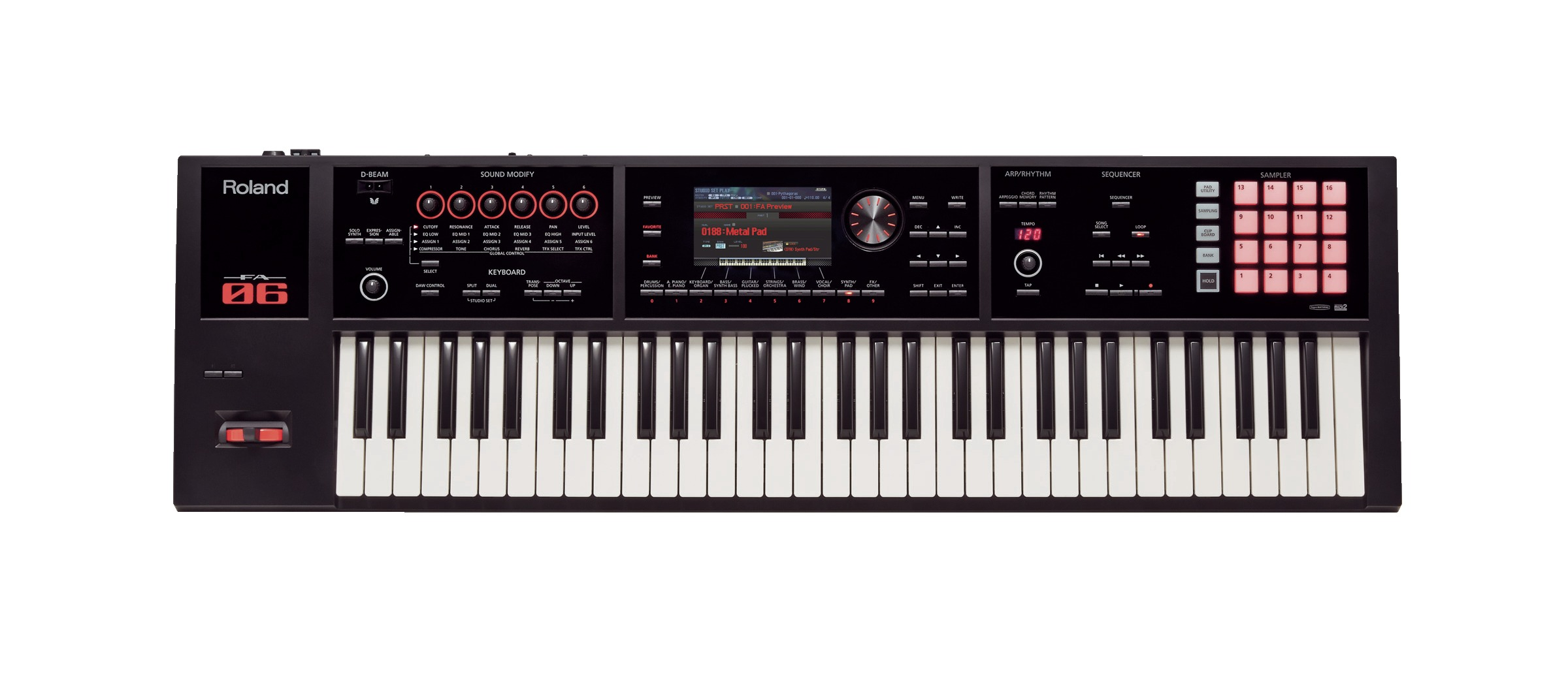 Claviers & Pianos - WORKSTATIONS - ROLAND - FA-06 - Royez Musik