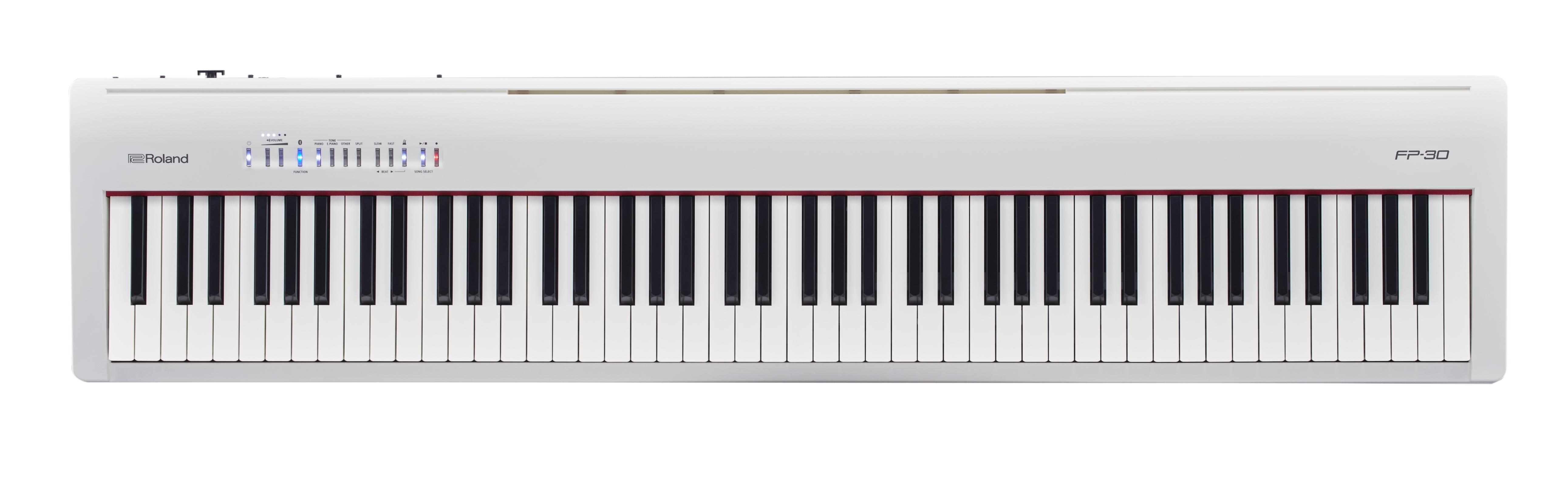 Claviers & Pianos - PIANOS NUMERIQUES - PORTABLE - ROLAND - FP-30X-WH - Royez Musik