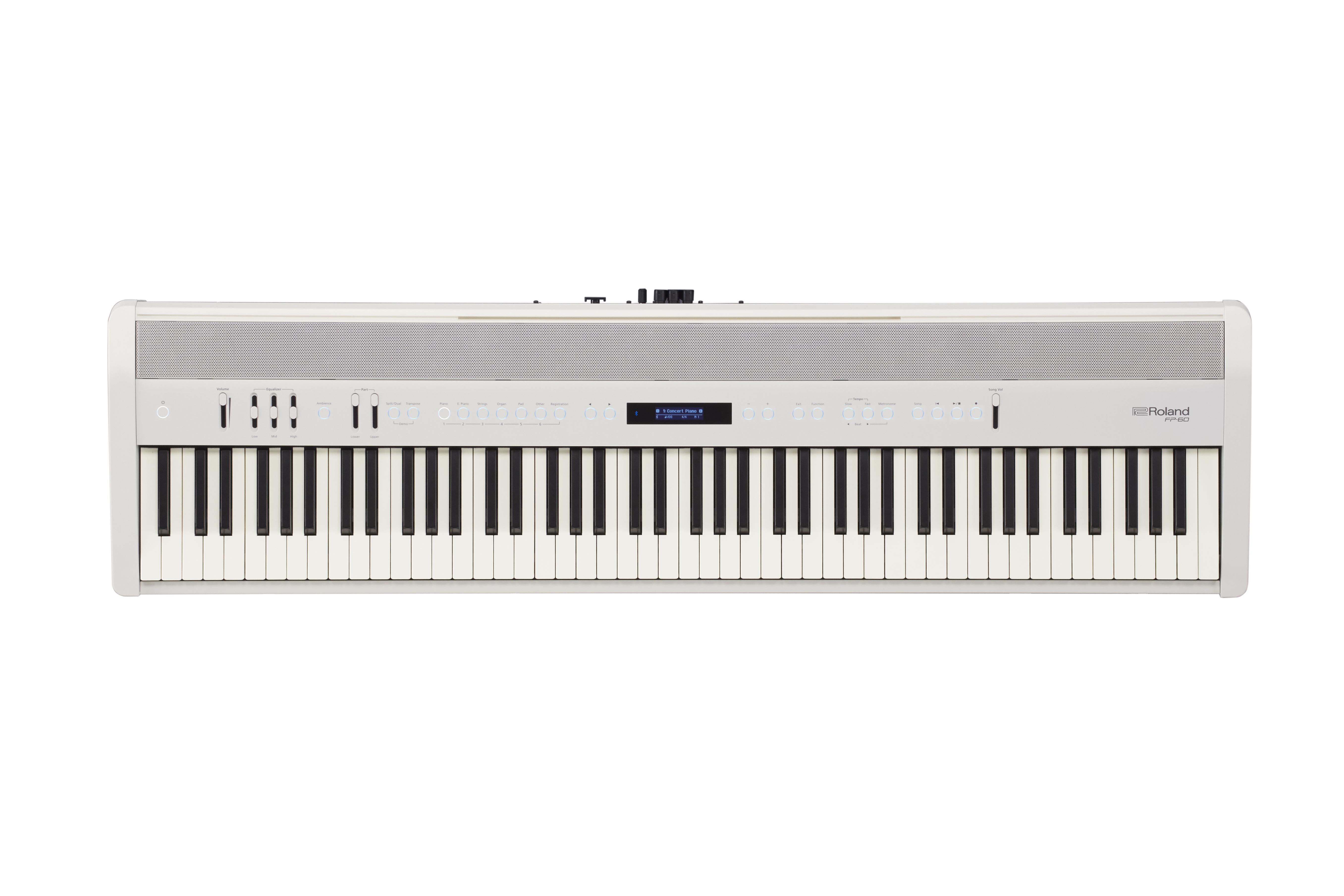 Claviers & Pianos - PIANOS NUMERIQUES - PORTABLE - ROLAND - FP-60X-WH - Royez Musik