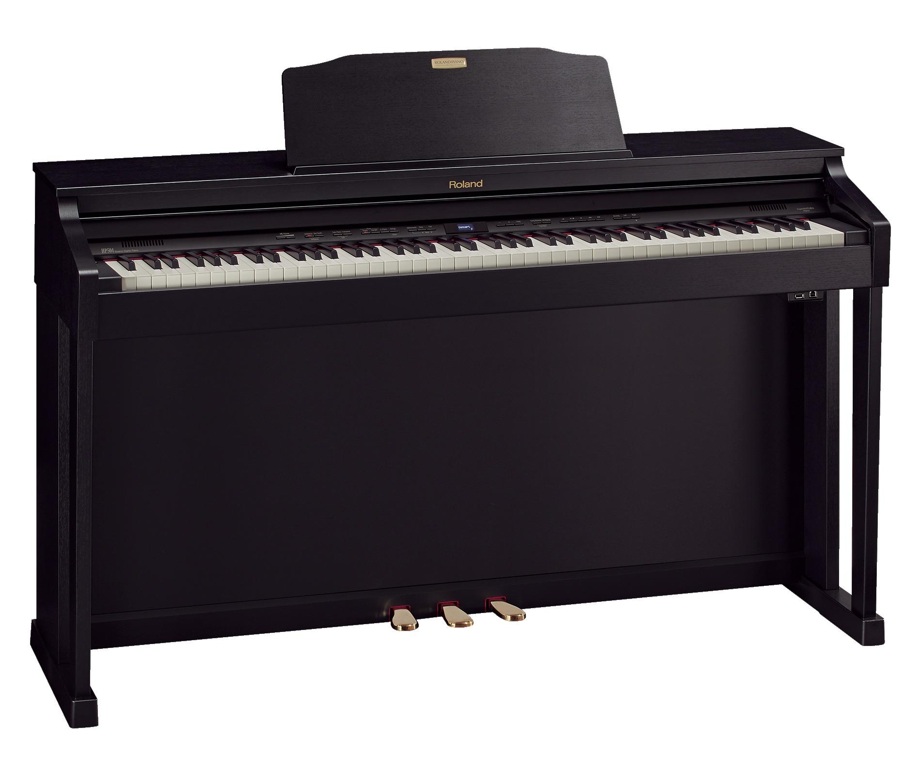 Claviers & Pianos - PIANOS NUMERIQUES - MEUBLE - ROLAND - HP504-CB - Royez Musik