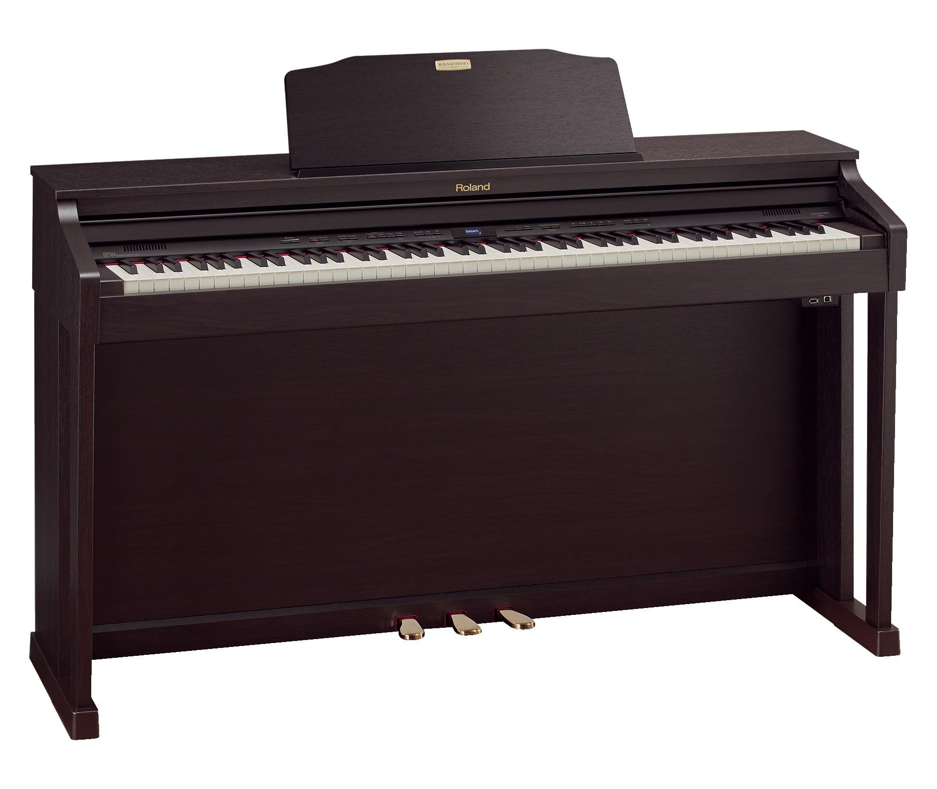 Claviers & Pianos - PIANOS NUMERIQUES - MEUBLE - ROLAND - HP504-RW - Royez Musik