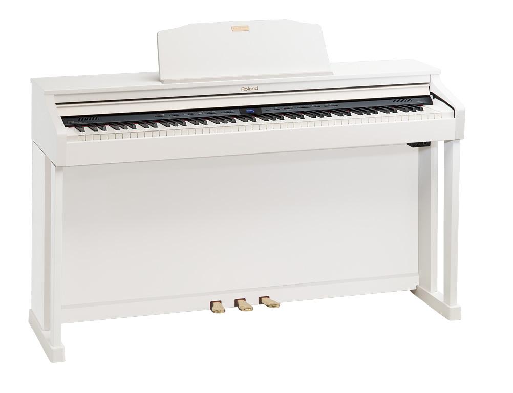 Claviers & Pianos - PIANOS NUMERIQUES - MEUBLE - ROLAND - HP504-WH - Royez Musik
