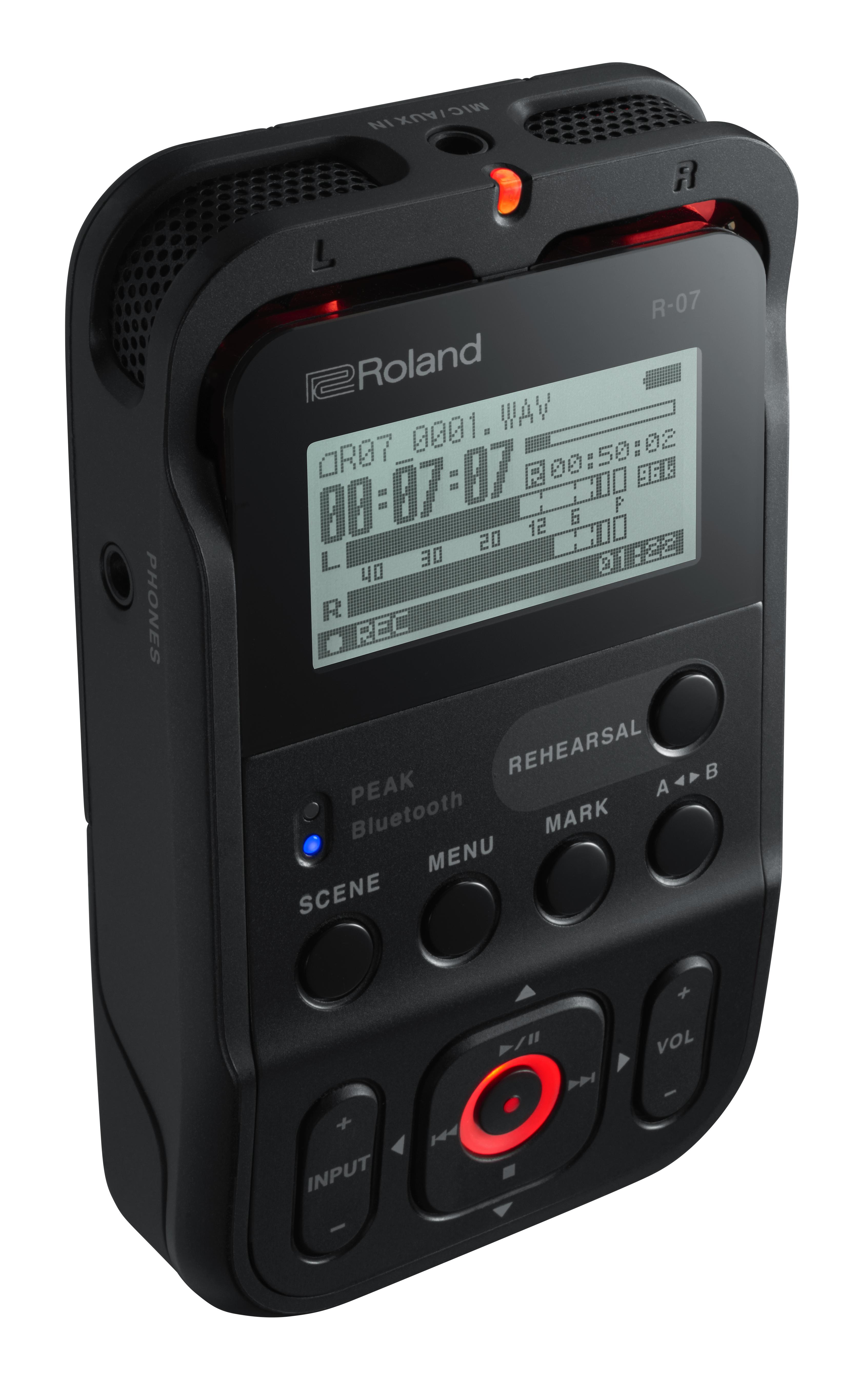 Audio - ENREGISTREMENT ET CAPTURES - ROLAND - R-07 (BK) - Royez Musik
