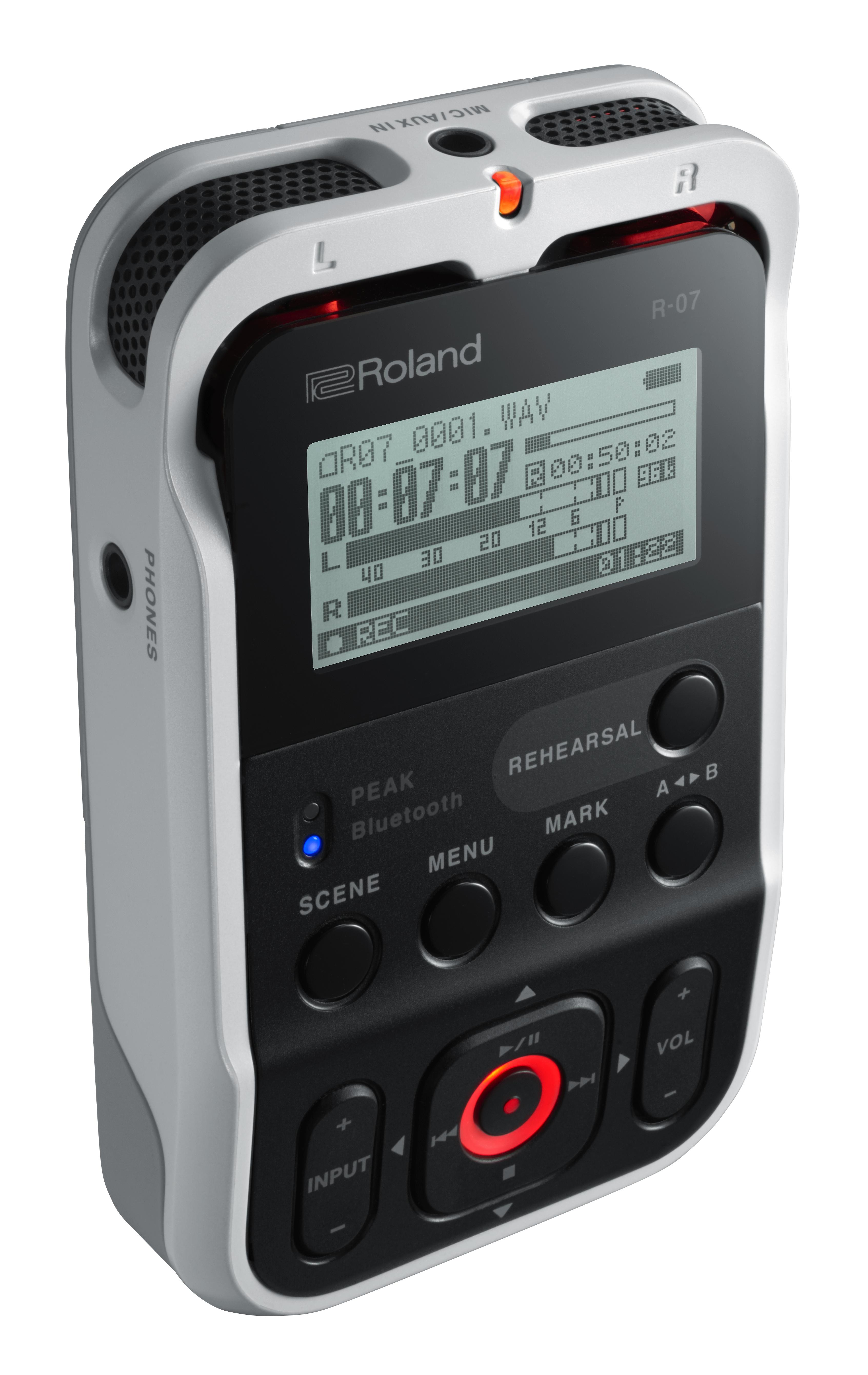 Audio - ENREGISTREMENT ET CAPTURES - ROLAND - R-07 (WH) - Royez Musik
