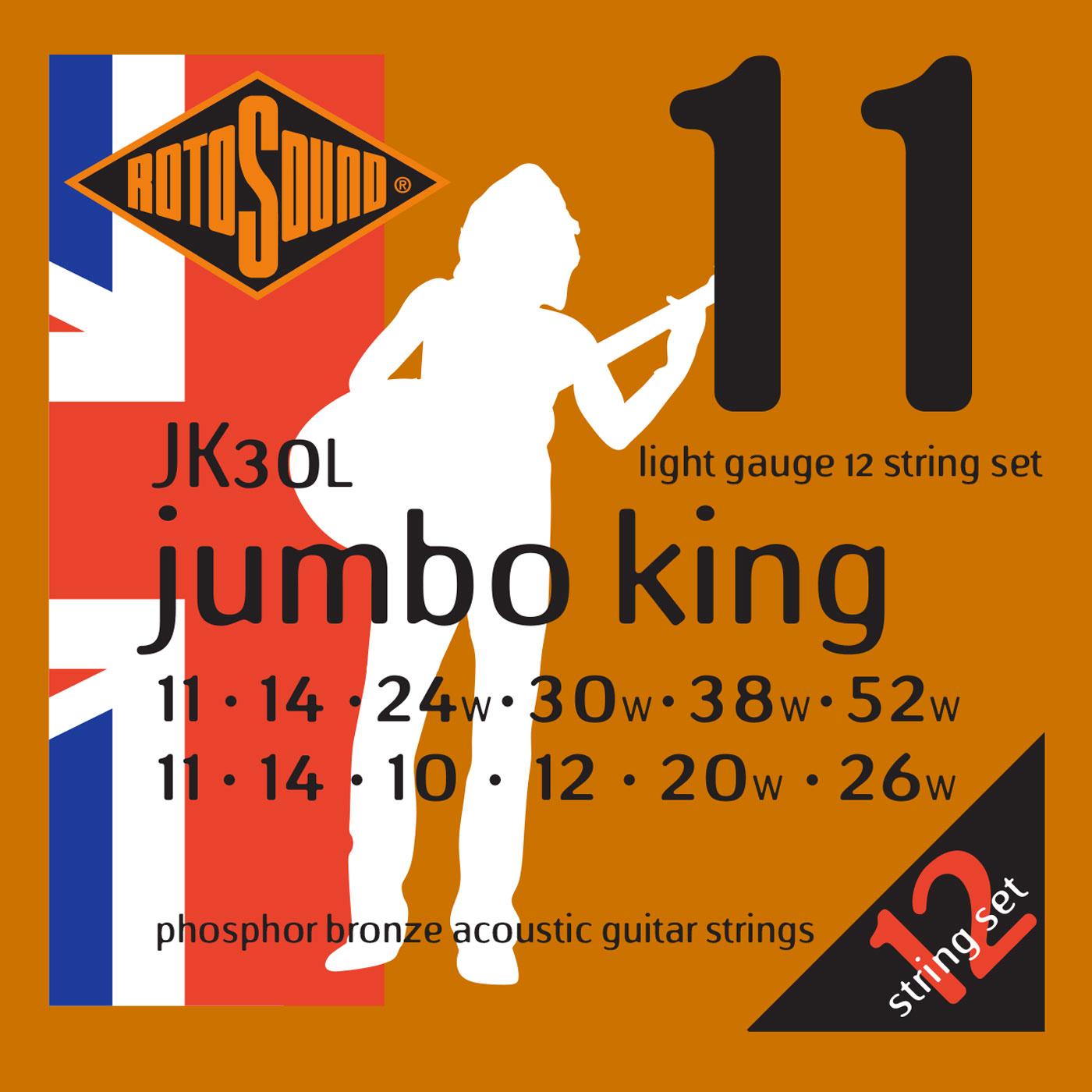 CORDES - CORDES GUITARES ACOUSTIQUES - 12 CORDES - ROTOSOUND - ROTJK30L - Royez Musik