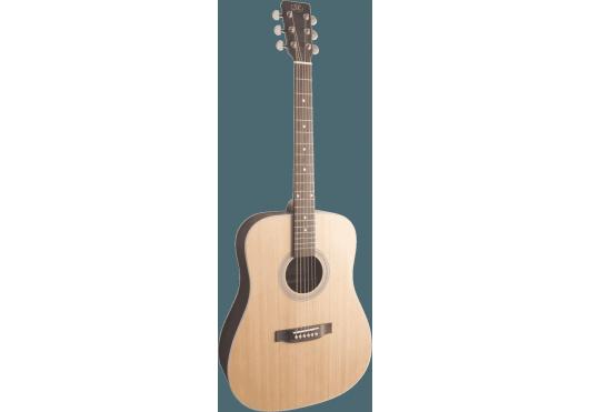 Guitares & Co - GUITARES ACOUSTIQUES - 6 CORDES - SX - GSX SD204BK - Royez Musik